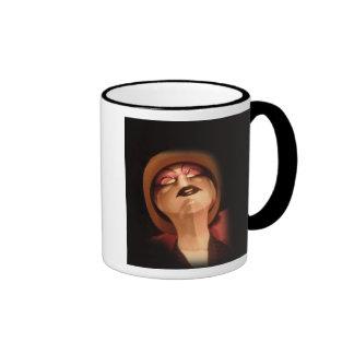 Maniquí lunes tazas de café
