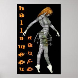 Maniquí oxidado del gótico de Steampunk de la danz Impresiones