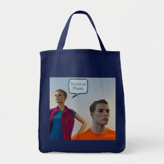 Maniquíes plásticos bolsa tela para la compra