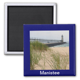 Manistee Lighthouse 2 Inch Square Magnet