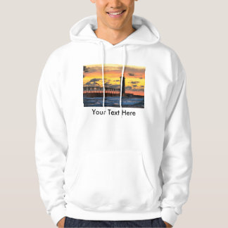 Manistee Lighthouse during a Storm at Sunset Hoodie