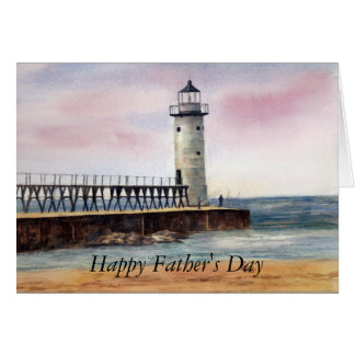 Manistee North Pierhead Light, Happy Father's Day Card