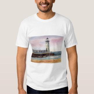 Manistee North Pierhead Light Ladies Tshirt