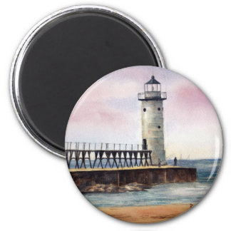 Manistee North Pierhead Light Magnet