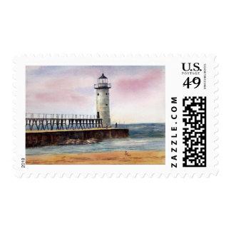 Manistee North Pierhead Light Postage Stamps