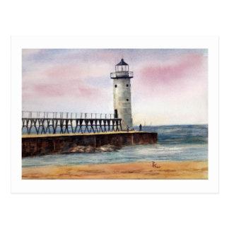 Manistee North Pierhead Light Postcard