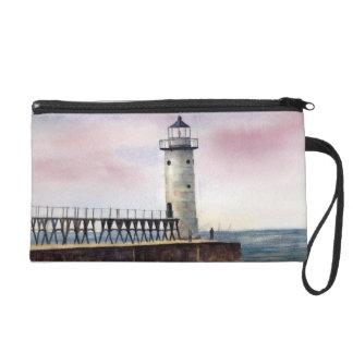 Manistee North Pierhead Lighthouse Bag Wristlet Clutch