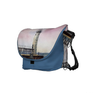 Manistee North Pierhead Lighthouse Messenger Bag