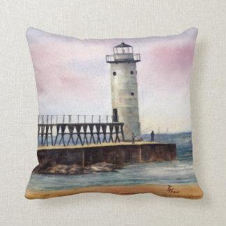 Manistee North Pierhead Lighthouse Pillow