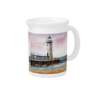 Manistee North Pierhead Lighthouse Pitcher