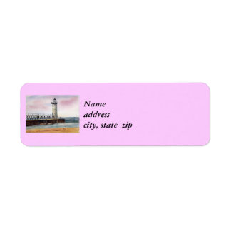 Manistee North Pierhead Lighthouse Return Address Label