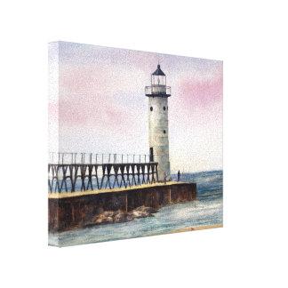 Manistee North Pierhead Lighthouse StretchedCanvas Canvas Print