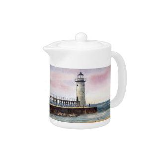Manistee North Pierhead Lighthouse Teapot