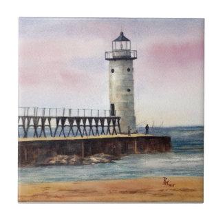 Manistee North Pierhead Lighthouse Tile