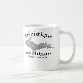 Manistique Michigan Map Design Mug Coffee Mug