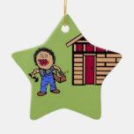 Manitas del constructor ornamento de navidad