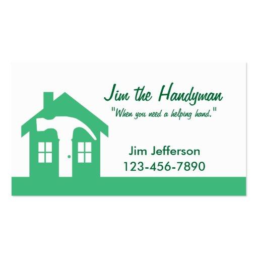 Manitas/tarjeta de visita casera del verde de la r tarjetas de visita
