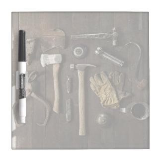 Manitas temáticas, de madera de la renovación de pizarras blancas