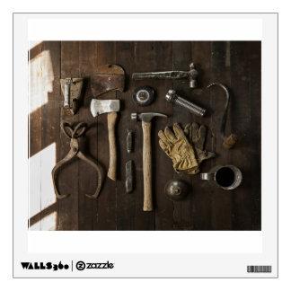 Manitas temáticas, de madera de la renovación de vinilo decorativo