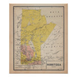 Manitoba 1920 de French Antiguo Map Póster