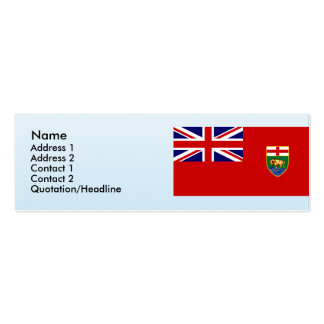 Manitoba, Canada Business Card Template