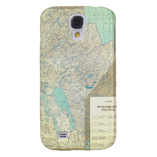 Manitoba Canada Physiographic Map in 1860 Samsung S4 Case
