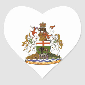 Manitoba Coat of Arms Heart Sticker