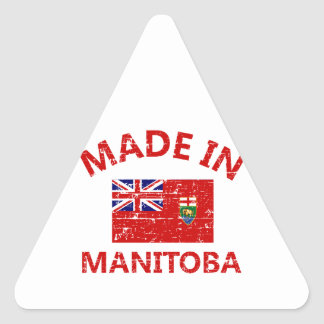 Manitoba Coat of arms Triangle Sticker