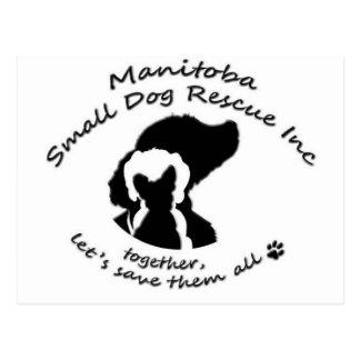 Manitoba Small Dog rescue Postcard