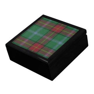 Manitoba Tartan Ceramic Tile Inlaid Wood Gift Box