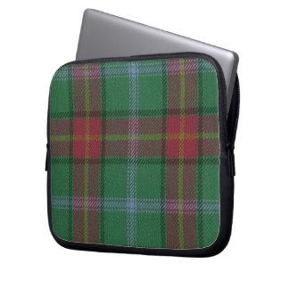 Manitoba Tartan Neoprene Zippered Laptop Sleeve