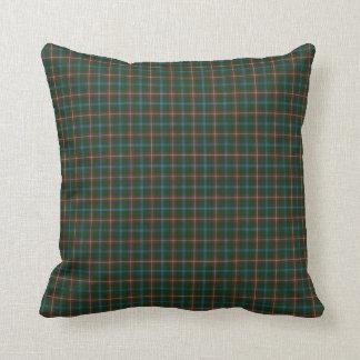 Manitoba tartan throw pillow