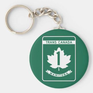 Manitoba, Trans-Canada Highway Sign Keychain