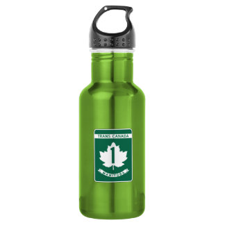 Manitoba, Trans-Canada Highway Sign 18oz Water Bottle