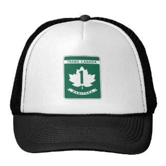 Manitoba, Trans-Canada Highway Sign Trucker Hat