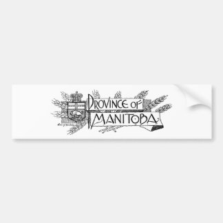 Manitoba Vintage Coat of Arms Bumper Sticker