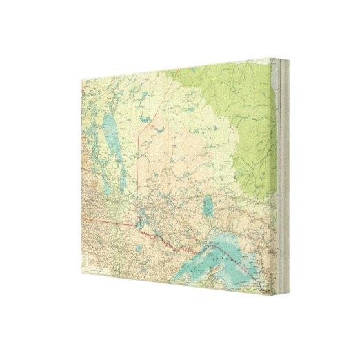 Manitoba y Ontario del noroeste Impresiones En Lona Estiradas