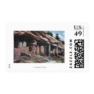 Manitou Springs, Colorado - Cliff Dwellings Postage Stamps
