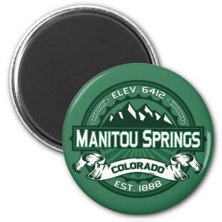 """Manitou Springs """"Colorado Green"""" Logo Magnet"""