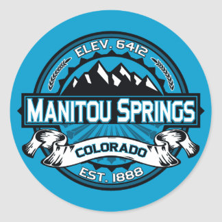 Manitou Springs Logo Ice Classic Round Sticker