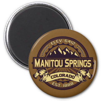Manitou Springs Logo Sepia 2 Inch Round Magnet