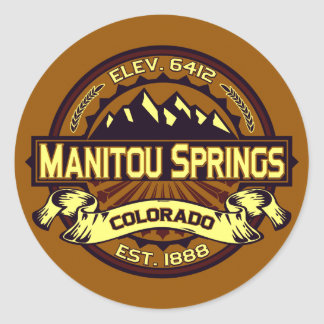 Manitou Springs Logo Vibrant Classic Round Sticker