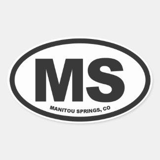 Manitou Springs Oval Sticker