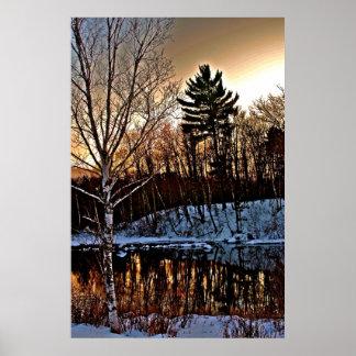 Manitowish Winter Poster