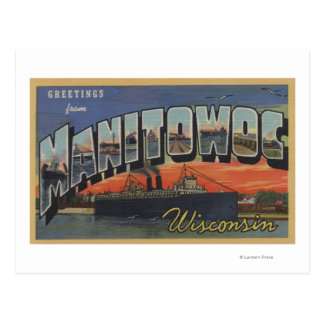 Manitowoc, Wisconsin - Large Letter Scenes Postcard