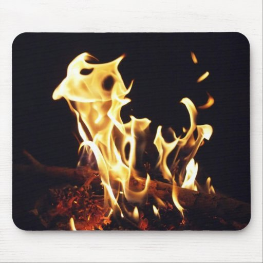 Manivela del fuego mousepad