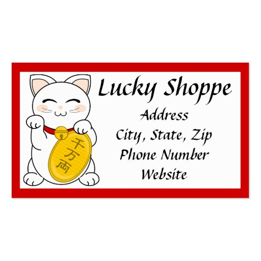 Mankei Neko Business Card