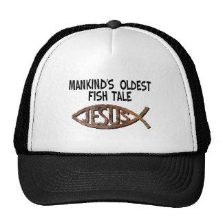 Mankind's Oldest Fish Tale - Jesus! Trucker Hats