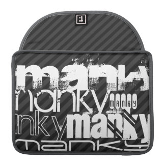 Manky; Black & Dark Gray Stripes Sleeve For MacBook Pro