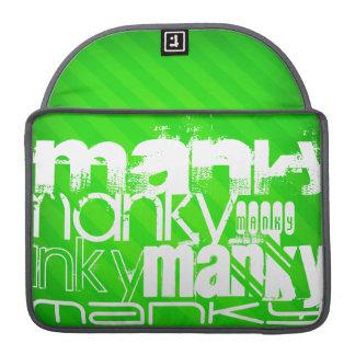 Manky; Neon Green Stripes Sleeve For MacBooks